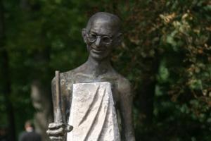 Откриване на паметник на Махатма Ганди
